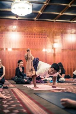 Hie Kim Yoga Lotus crow